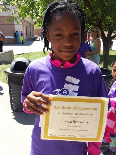 Zarrea Breedlove - 6th grade Scholarship
